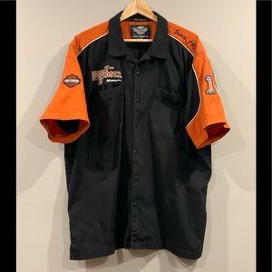 Harley Davidson Garage Button Up Biker Shirt